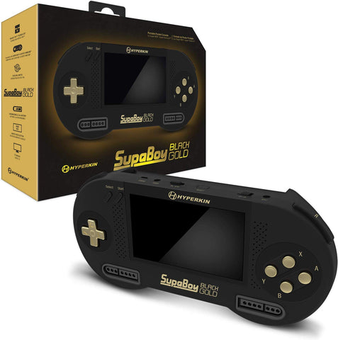 Hyperkin SupaBoy Blackgold Portable Pocket Console for Super NES/Super Famicom