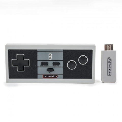 RetroBit Retro 8 NES Wireless Pro Controller for NES Classic / Wii / Wii U