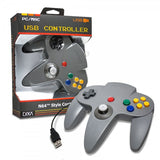 CirKa N64-Style USB Controller for PC / Mac - Gray