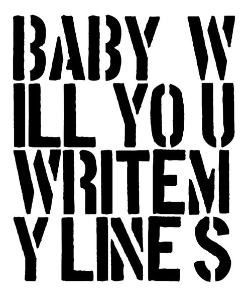 "2017, ""Baby Will You Write My Lines"", new media study for oil painting, 40 in x 30 in, 101.60 x 76.20 cm, ADW093"