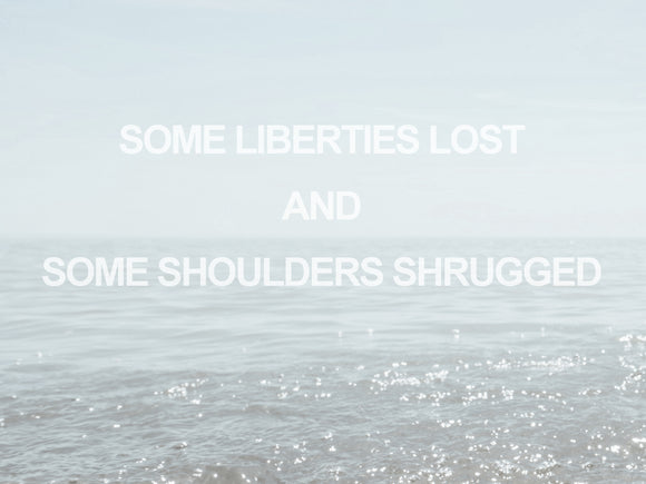 Adam Daley Wilson Text Word Art Ruscha Liberties Shoulders