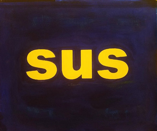 "2017, ""sus"", acrylic on canvas, study for oil painting, 18 in x 24 in, 45.72 x 60.96 cm, ADW094"