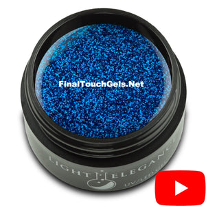 Brilliant Blue Glitter Gel, 17 ml - Light Elegance