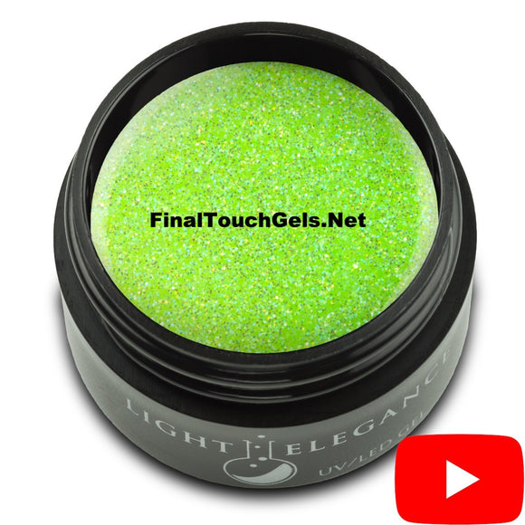 Electric Lime Glitter Gel, 17 ml - Light Elegance