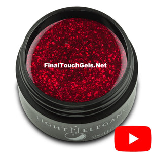Ravishing Red Glitter Gel, 17 ml - Light Elegance
