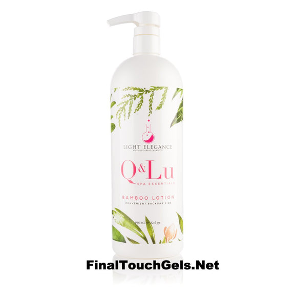 Q&Lu Bamboo Lotion - 32 oz- Light Elegance