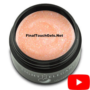 Peachy Glitter Gel, 17 ml - Light Elegance