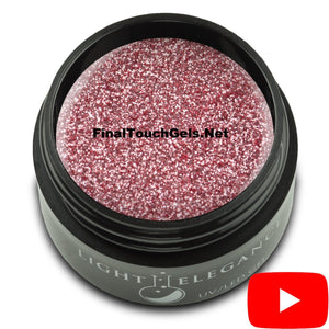 Salmon UV/LED Glitter Gel, 17 ml - Light Elegance