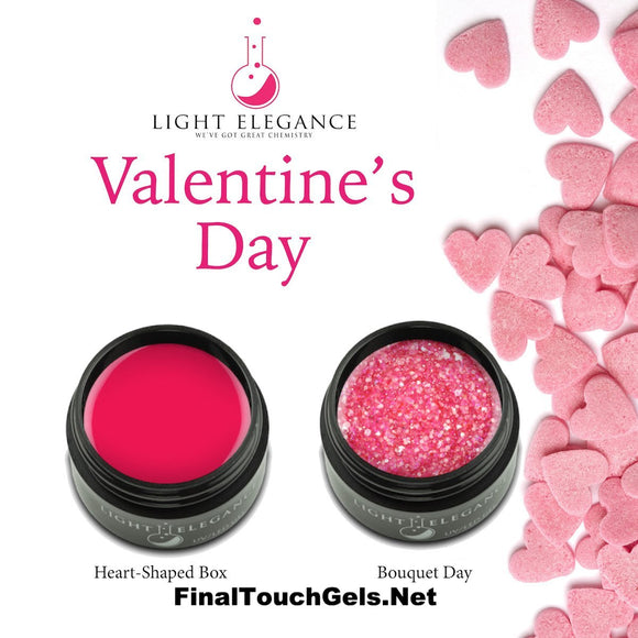 Heart-Shaped Box Color gel, 17 ml - Light Elegance  Bouquet Day Glitter Gel, 17 ml - Light Elegance