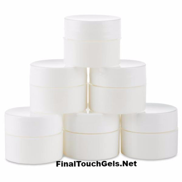 White Mixing Containers - Light Elegance
