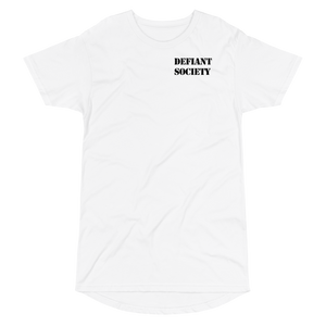 Defiant Long Body Tee White