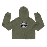 Bomb Shell Olive Crop Hoodie