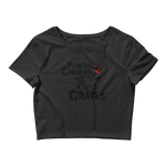 Gardens In Graves Black Crop Top