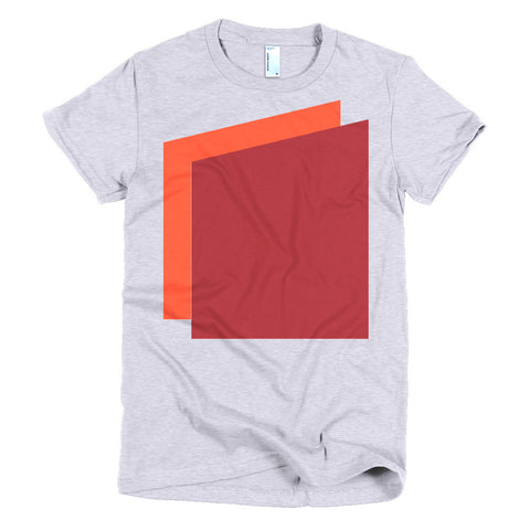 Simple Shapes in Orange and Red Women's T-shirt