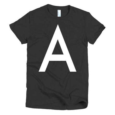 The Letter A in White | Women's T-shirt - main image