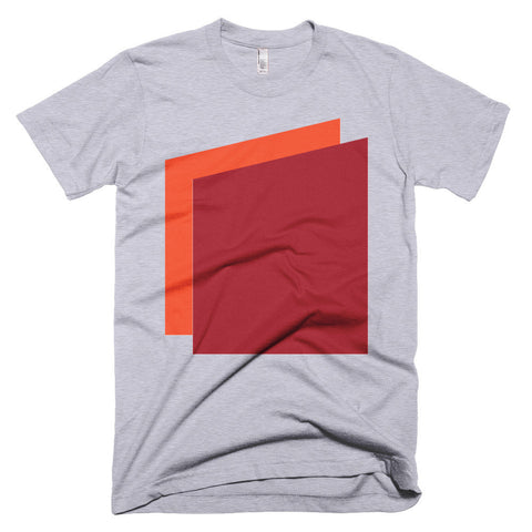 Simple Shapes in Orange and Red Men's T-shirt