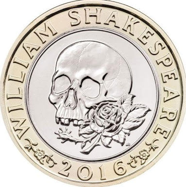 William Shakespeare 400th Death Anniversary 2 Pound Skull Coin