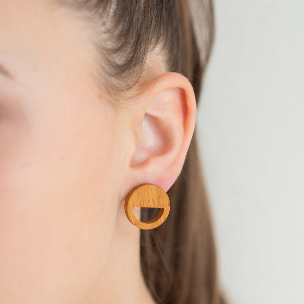 yellow kusia round earrings