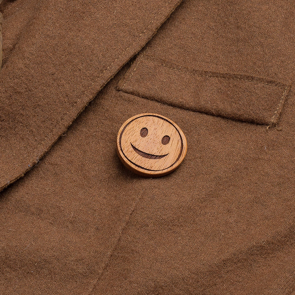 ginger smile wooden pin