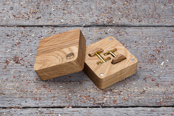 Hexagon zebrano cufflink