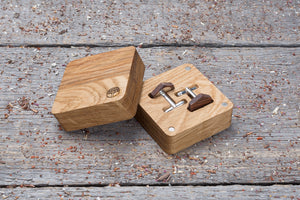 Hexagon rosewood cufflink