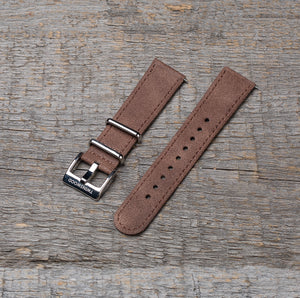 20 mm light brown watch strap