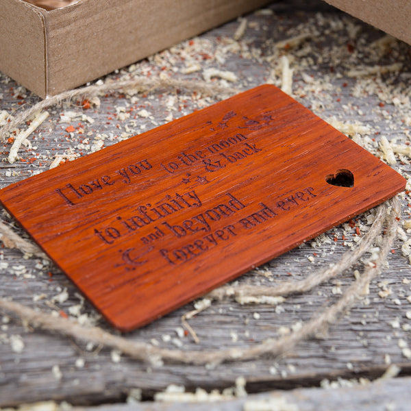 Jarrah wood wallet insert card