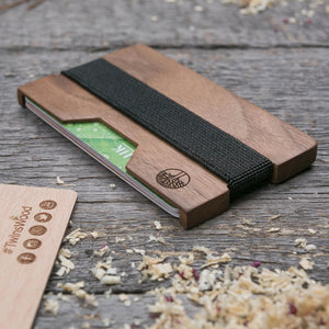 Walnut wood cardholder