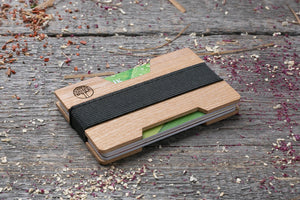 White ash wood wallet