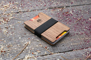 Walnut wood wallet