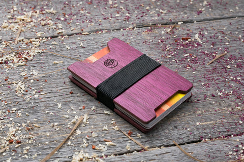 Purpleheart wood wallet