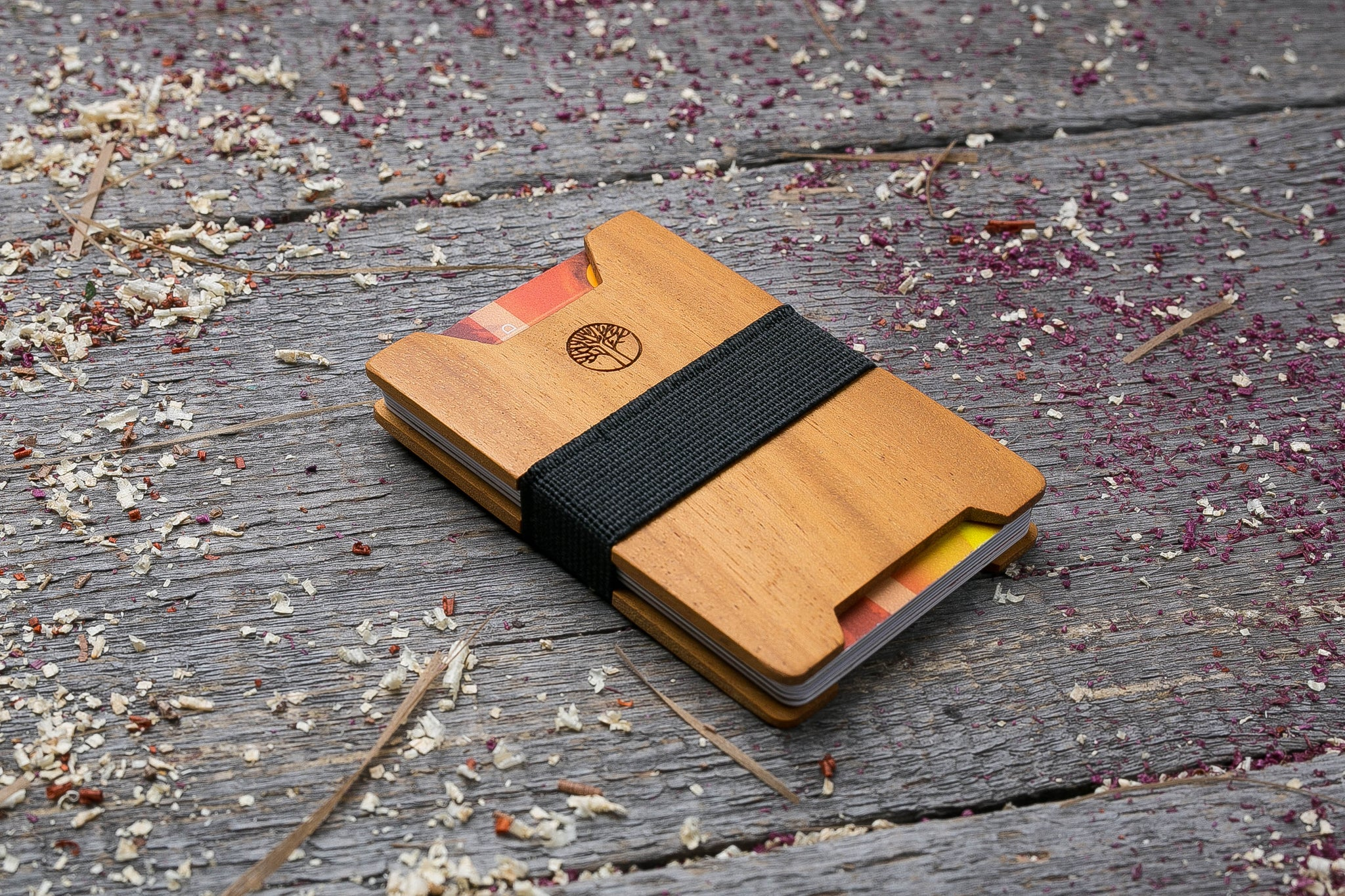 Kusia wood wallet