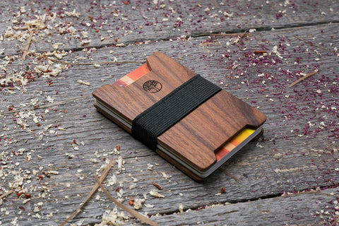 Rosewood wood wallet