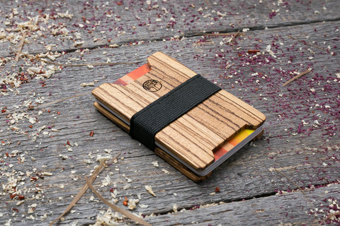 Zebra wood wallet