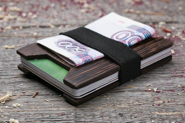 Wenge wood wallet