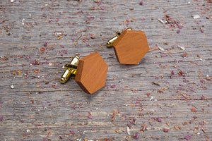 Hexagon kusia cufflink