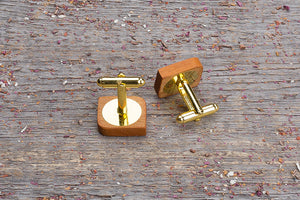 Rounded square kusia cufflink