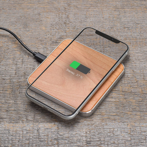 cherry wood wireless charger