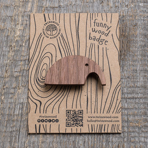 gray elephant wooden pin