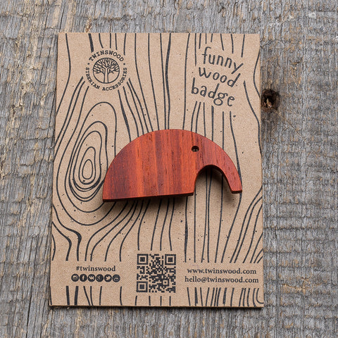 red elephant wooden pin