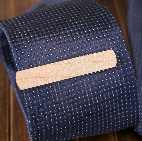 maple wood tie clip in gift box