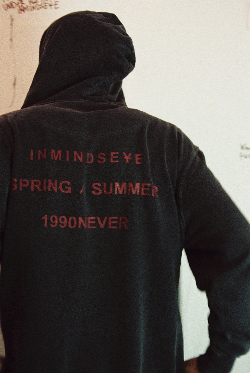 1990NEVER again hood / vintage black