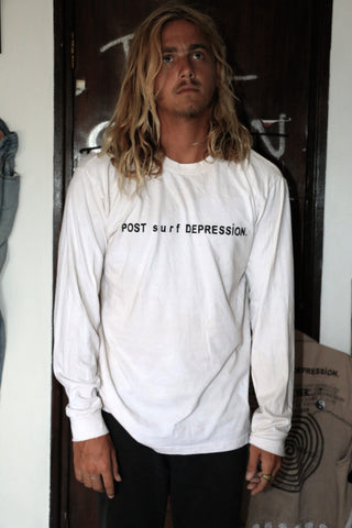 "POST surf DEPRESSION part.2 L/S TEE ""NICOTINE STAIN"""