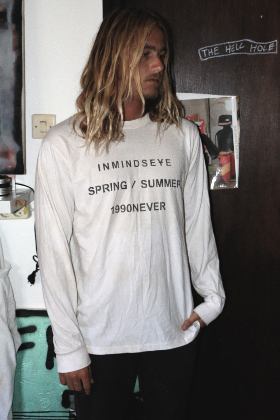 "1990NEVER part.2 L/S TEE ""nicotine stain"""