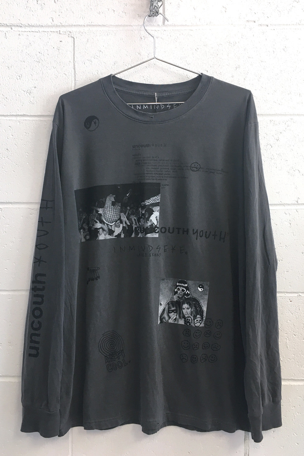"UNCOUTH YOUTH L/S tee ""vintage black"""