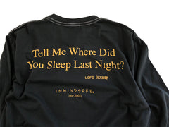 the PINES L/S tee / band tee black
