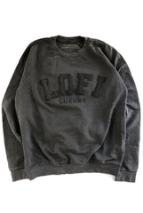 LO-FI LUXURY crew / vintage black