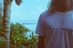"POST surf DEPRESSION part.2 TEE ""NICOTINE STAIN"""