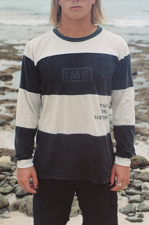 "THIRD WORLD DISORDER L/S tee ""washed black / nicotine"""