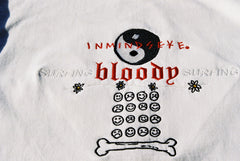 SURFING BLOODY SURFING L/S tee / white